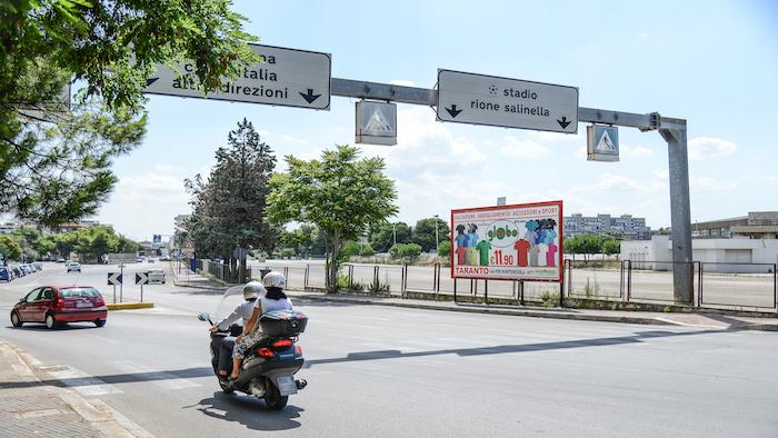 610 – via Lago Maggiore fronte facoltà Economia – Taranto